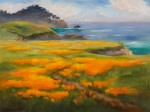 Point Lobos Poppies, o/c, 18x24 ~ Prints Available (click here)