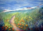 Wild Garden by the Sea, Pastel, 18x24 ~  Email artist about this piece Prints Available (click here)