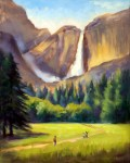 Yosemite Falls, o/c, 16x20  ~  PRINTS AVAILABLE (click here)