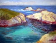 Point Lobos Jewels, o/c, 14x18