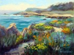 Point Lobos Wildflowers, o/c, 9x12 ~  Sold