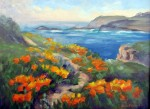 Point Lobos Poppies o/c, 12x16 Sold ~ Prints Available (click here)