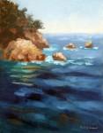 Saphire Summer Seas, o/c, 11x14