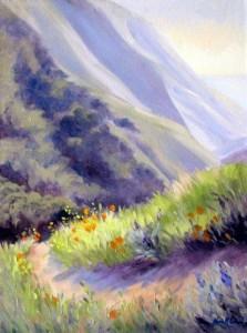 Soberanes Canyon ~ 18x24, Oil