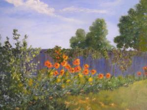 Backyard Poppies, oil ~ Gerri Bradford
